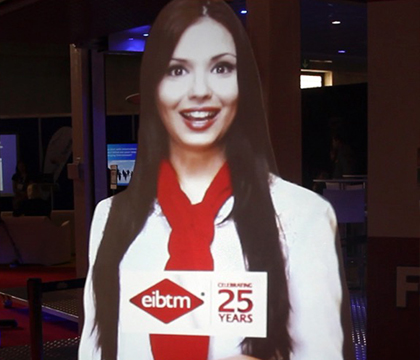 Virtual mannequin at the EIBTM Expo